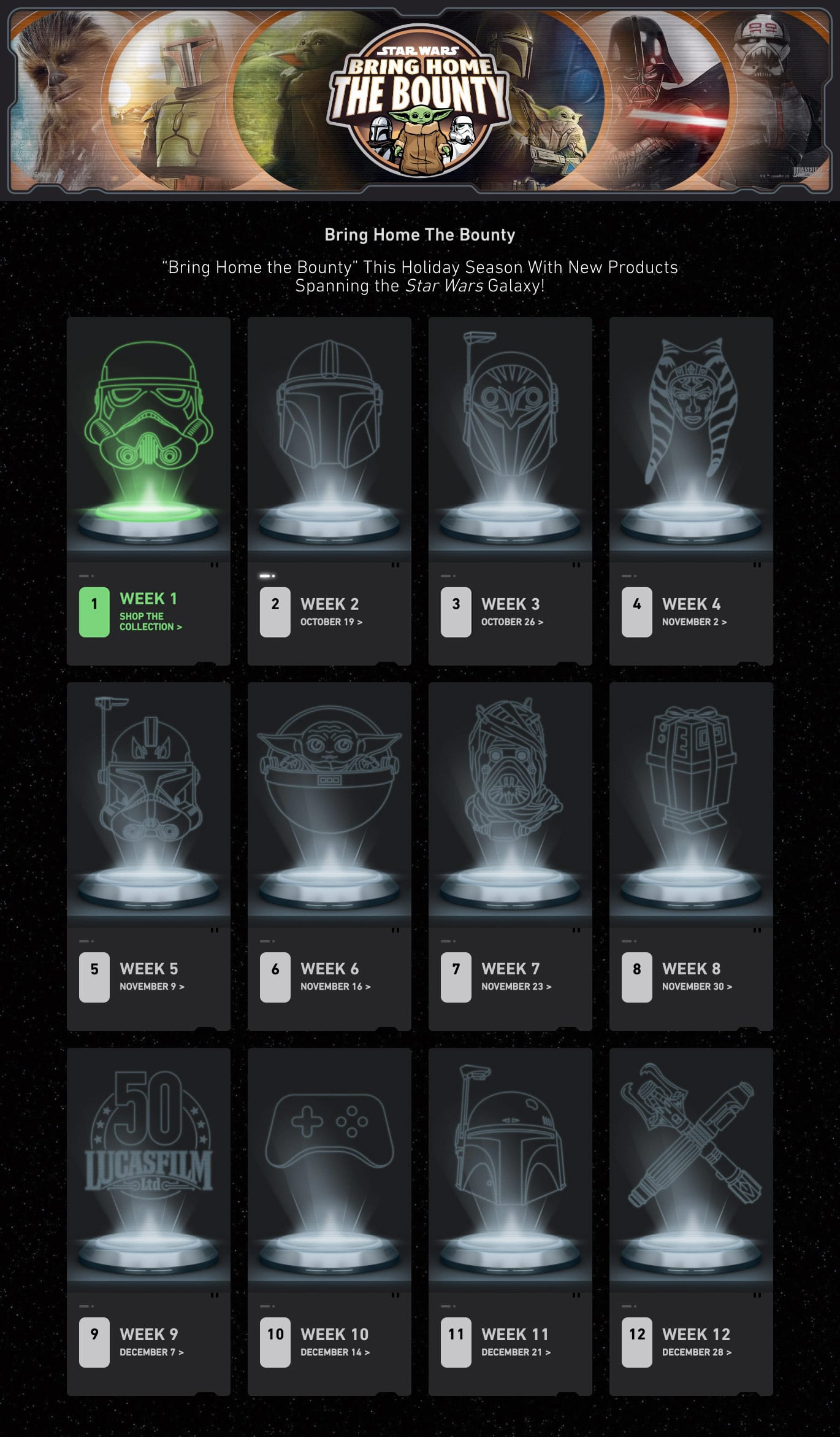 Star Wars Bring Back The Bounty Products