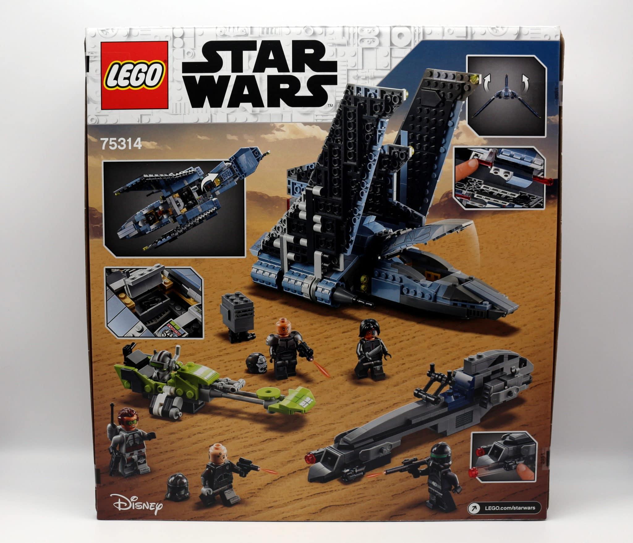 LEGO Star Wars 75314 The Bad Batch Attack Shuttle Box Back