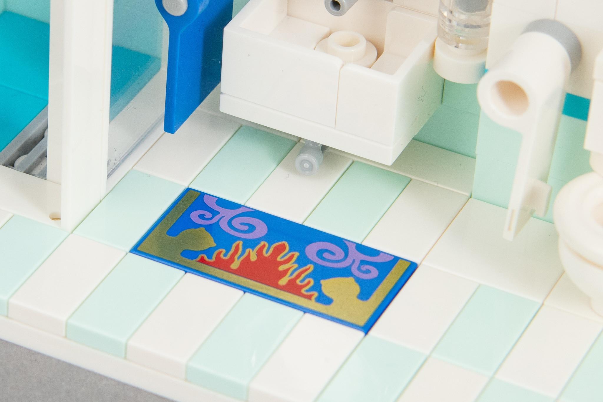 LEGO Badezimmer-Teppich
