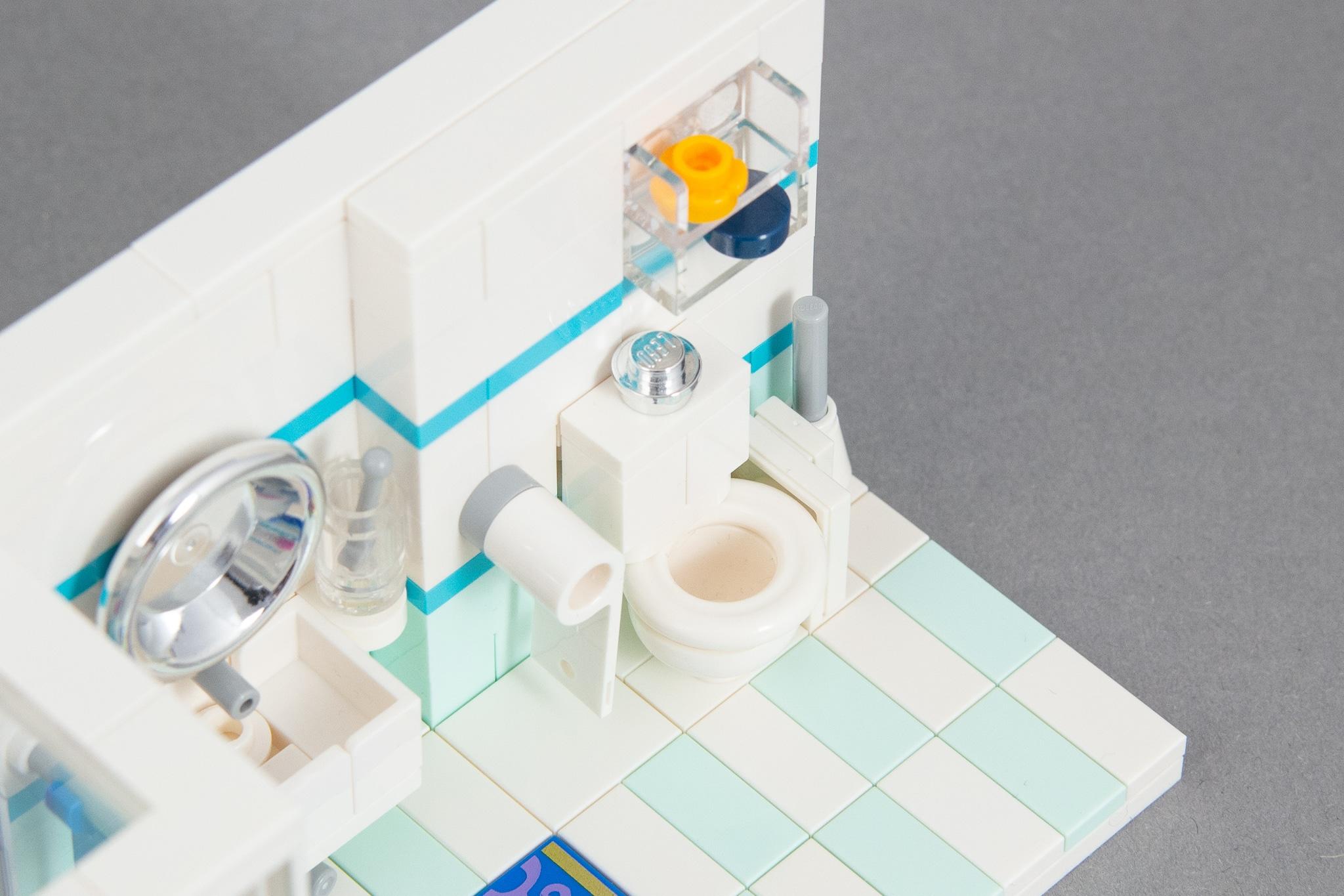 LEGO Badezimmer Klo Toilette
