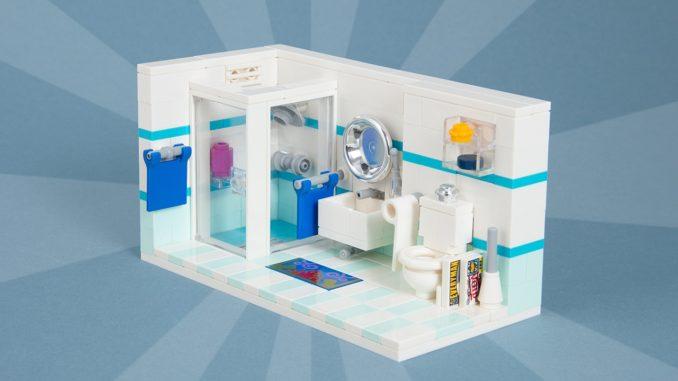 Lego Badezimmer Titelbild Interior Toilette MOC