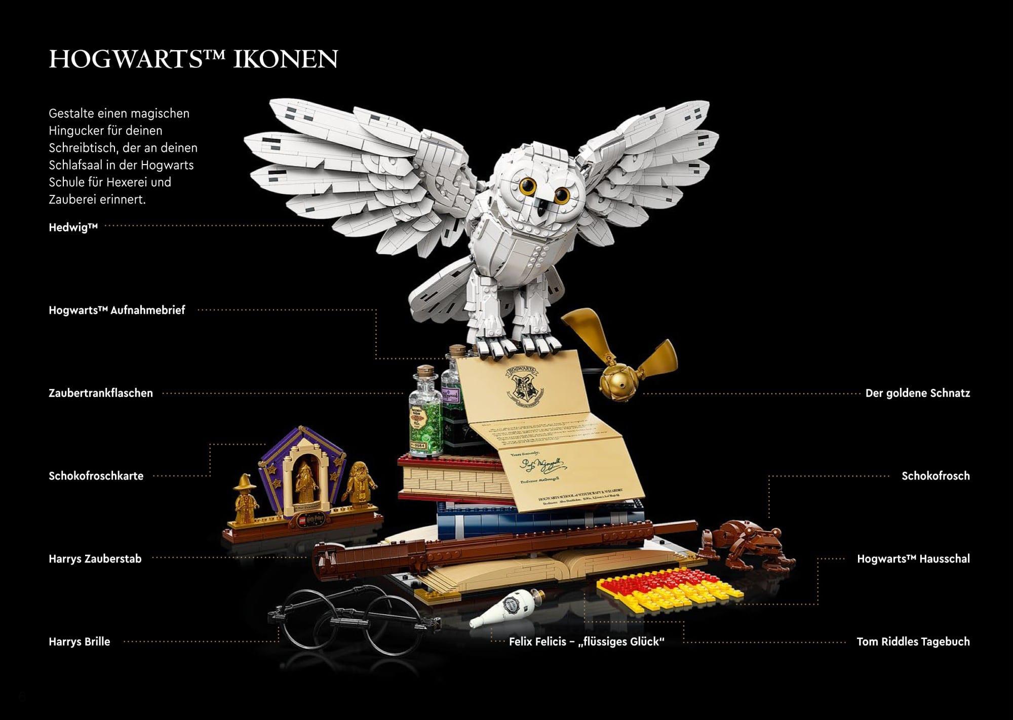 LEGO 76391 Hogwarts Icons Anleitung Übersicht
