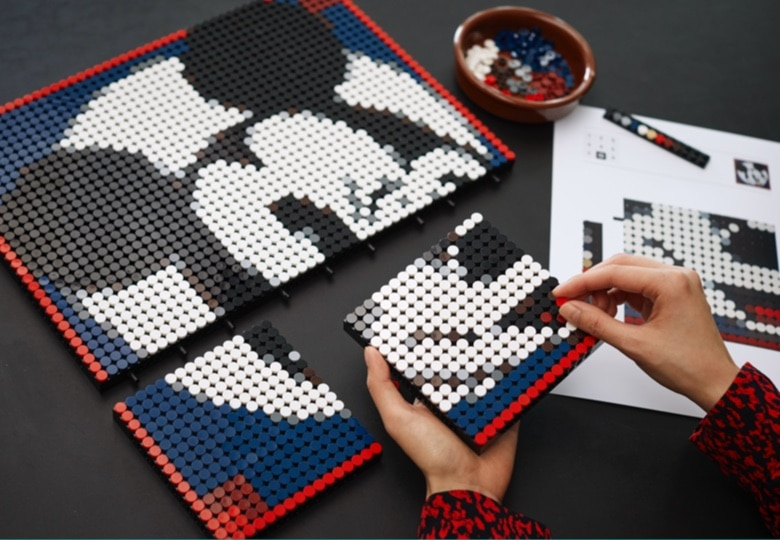 LEGO 31202 Mickey ,mosaik Alternativ Motive (3)